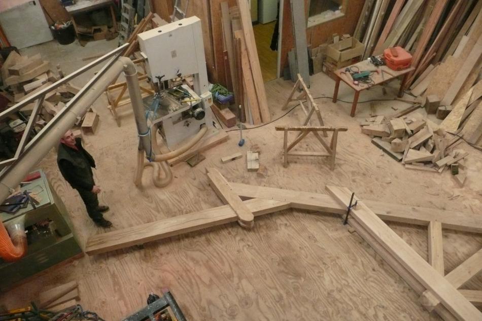 Remplacement d 39 une charpente ancienne a caudan charpente - Valeur d une stere de bois ...