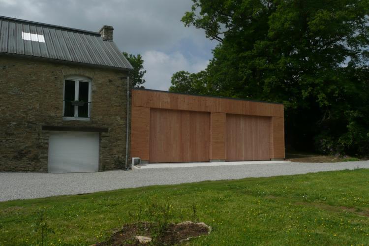 Ossature bois garage for Autoconstruction garage ossature bois